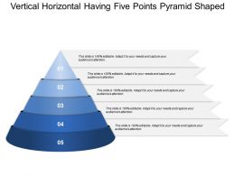 Vertical Horizontal Having Five Points Pyramid Shaped
