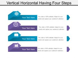 Vertical Horizontal Having Four Steps