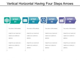 Vertical Horizontal Having Four Steps Arrows