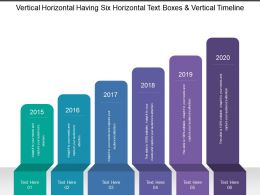 Vertical Horizontal Having Six Horizontal Text Boxes And Vertical Timeline
