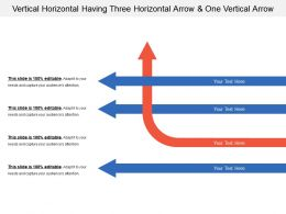 Vertical Horizontal Having Three Horizontal Arrow And One Vertical Arrow