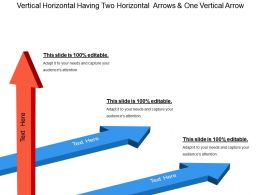 Vertical Horizontal Having Two Horizontal Arrows And One Vertical Arrow
