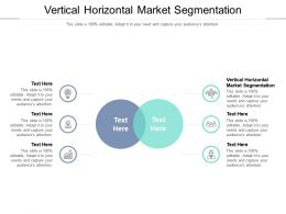 Vertical Horizontal Market Segmentation Ppt Powerpoint Presentation Pictures Portrait Cpb