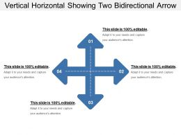 Vertical Horizontal Showing Two Bidirectional Arrow