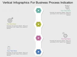 Vertical Infographics For Business Process Indication Flat Powerpoint Design