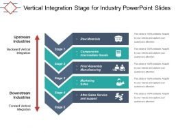 Vertical Integration Stage For Industry Powerpoint Slides