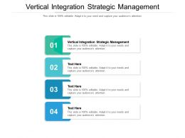 Vertical Integration Strategic Management Ppt Powerpoint Presentation Gallery Show Cpb