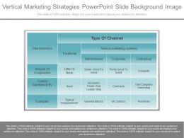 Vertical Marketing Strategies Powerpoint Slide Background Image