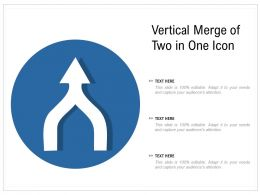 Vertical Merge Of Two In One Icon