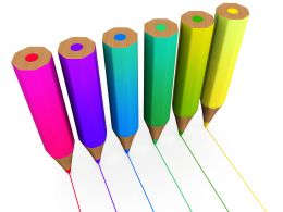 Vertical Pencils In Colors Stock Photo