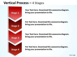 Vertical Process 4 Steps diagram 34