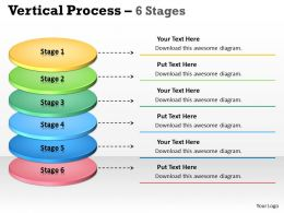 Vertical Process 6 Stages diagram 43
