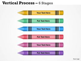 Vertical Process 6 Stages ppt diagram 44