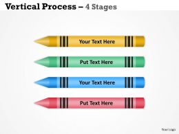 Vertical Process four Stages diagram 37
