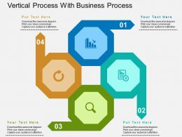 Vertical Process With Business Process Flat Powerpoint Design