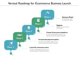 Vertical Roadmap For Ecommerce Business Launch