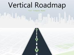 Vertical Roadmap Timeline Development Marketing Product Research Business Organizational