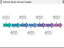 Vertical Seven Arrows Graphic