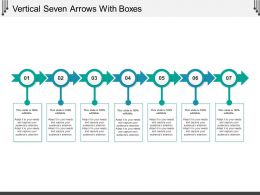Vertical Seven Arrows With Boxes