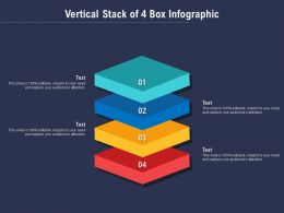 Vertical Stack Of 4 Box Infographic