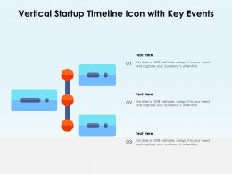 Vertical Startup Timeline Icon With Key Events