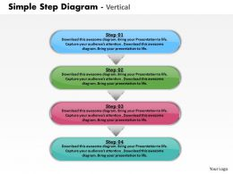 Vertical Step Diagram Powerpoint Powerpoint Template Slide