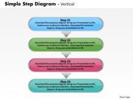 Vertical Step Diagram Powerpoint Powerpoint Template Slide