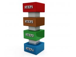 Vertical Step For Process Flow Stock Photo