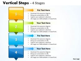 Vertical Steps colorful diagram 38