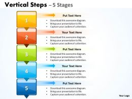 Vertical Steps PPT Image