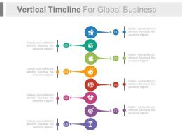 Vertical Timeline For Global Business Success Analysis Flat Powerpoint Design