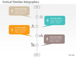 Vertical Timeline Infographics Flat Powerpoint Design