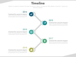 Vertical Timeline With Business Icons Powerpoint Slides