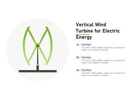 Vertical Wind Turbine For Electric Energy