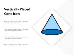 Vertically Placed Cone Icon