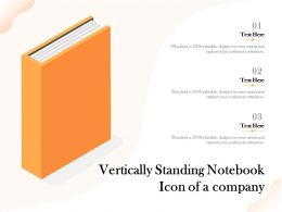 Vertically Standing Notebook Icon Of A Company