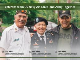 Veterans From US Navy Air Force And Army Together