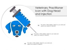 Veterinary Practitioner Icon With Dog Head And Injection