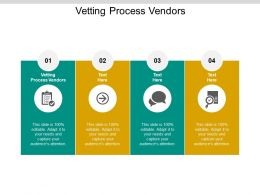 Vetting Process Vendors Ppt Powerpoint Presentation Model Skills Cpb