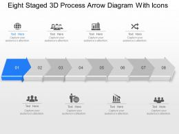 Vf Eight Staged 3d Process Arrow Diagram With Icons Powerpoint Template