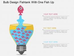 vg Bulb Design Fishtank With One Fish Up Flat Powerpoint Design