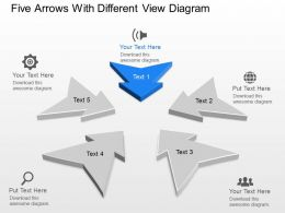 Vi Five Arrows With Different View Diagram Powerpoint Template