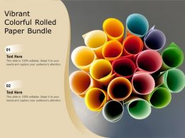 Vibrant Colorful Rolled Paper Bundle