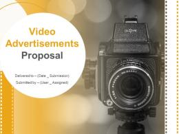 Video Advertisements Proposal Powerpoint Presentation Slides