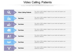 Video Calling Patients Ppt Powerpoint Presentation Summary Infographics Cpb