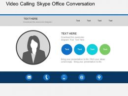 Video Calling Skype Office Conversation Flat Powerpoint Design