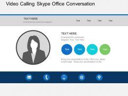 Video Calling Skype Office Conversation Flat Powerpoint Design