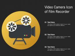 Video Camera Icon Of Film Recorder