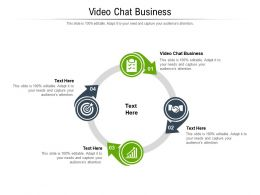 Video Chat Business Ppt Powerpoint Presentation File Gallery Cpb