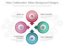 Video Collaboration Slides Background Designs